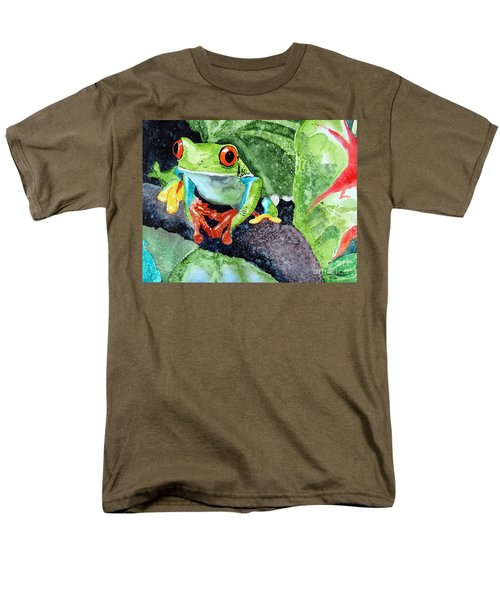 Men's T-Shirt  (Regular Fit) featuring the painting Not Kermit by Tom Riggs