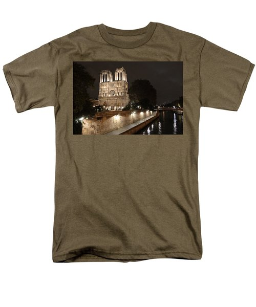 Men's T-Shirt  (Regular Fit) featuring the photograph Notre Dame Cathedral From Petit Pont by Christopher Kirby