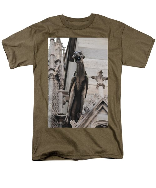 Rain Spouting Gargoyle. Men's T-Shirt  (Regular Fit) by Christopher Kirby