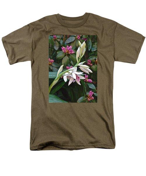 Nun Orchid Men's T-Shirt  (Regular Fit) by Janis Nussbaum Senungetuk