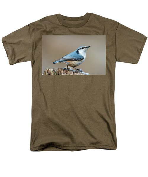 Men's T-Shirt  (Regular Fit) featuring the photograph Nuthatch's Pose by Torbjorn Swenelius
