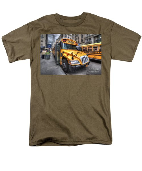 Nyc School Bus Men's T-Shirt  (Regular Fit) by Yhun Suarez