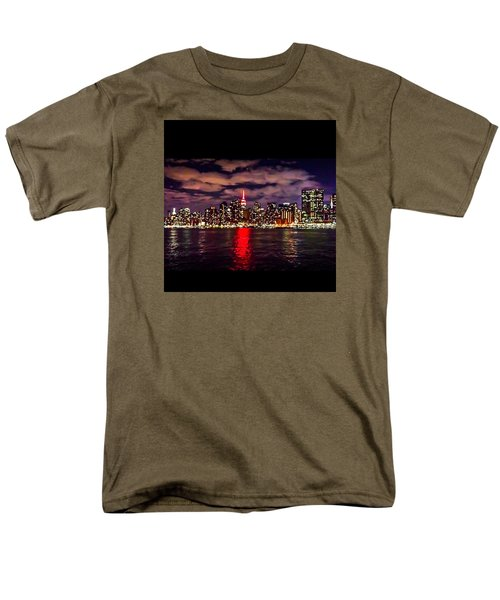 Nyc Skyline Men's T-Shirt  (Regular Fit) by Diya Baichu