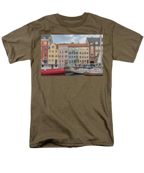 Men's T-Shirt  (Regular Fit) featuring the photograph Nyhavn Waterfront In Copenhagen by Antony McAulay