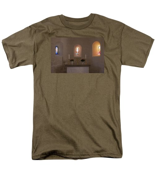 Men's T-Shirt  (Regular Fit) featuring the photograph Nyker Round Church Altar by Inge Riis McDonald