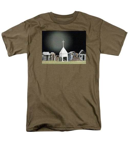 Men's T-Shirt  (Regular Fit) featuring the digital art O Little Town by Lyric Lucas