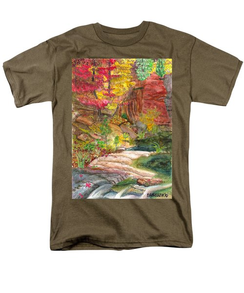 Oak Creek West Fork Men's T-Shirt  (Regular Fit) by Eric Samuelson
