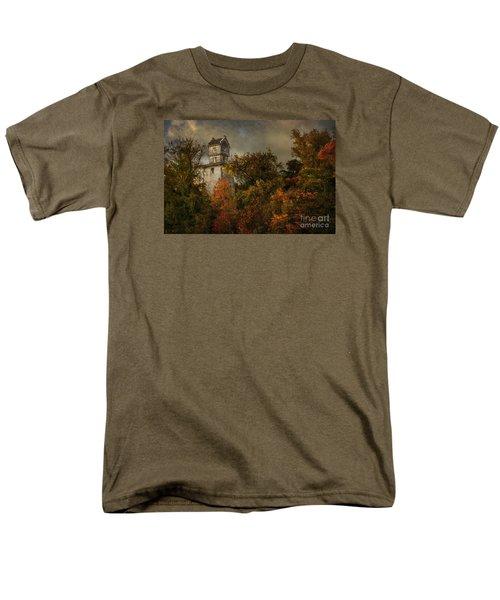 Oakhurst Water Tower Men's T-Shirt  (Regular Fit) by Debra Fedchin