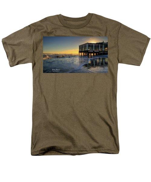 Oc Music Pier Sunset Men's T-Shirt  (Regular Fit) by John Loreaux