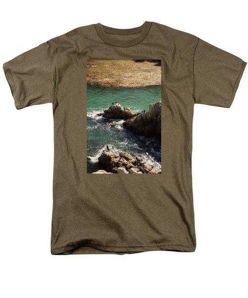Ocean Rock Near Carmel Men's T-Shirt  (Regular Fit) by Ted Pollard