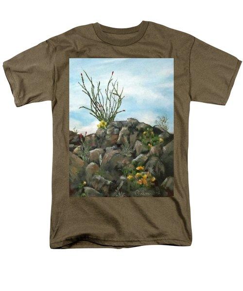 Ocotillo In Bloom Men's T-Shirt  (Regular Fit) by Roseann Gilmore