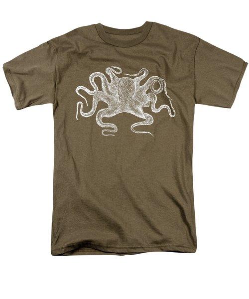 Octopus White Ink Tee Men's T-Shirt  (Regular Fit) by Edward Fielding