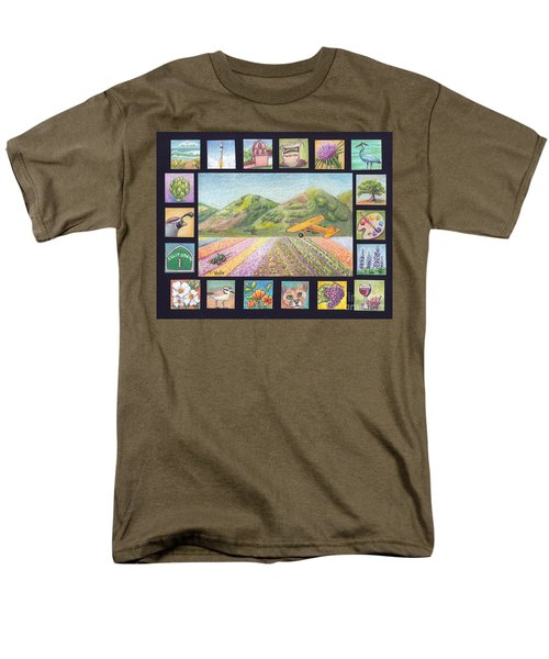 Ode To Lompoc Men's T-Shirt  (Regular Fit) by Terry Taylor