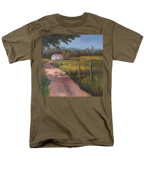 Off The Path In Whiting Bay Men's T-Shirt  (Regular Fit) by Trina Teele