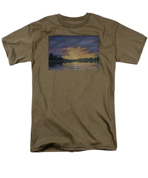 Men's T-Shirt  (Regular Fit) featuring the painting Offshore Sunset Sketch by Kathleen McDermott