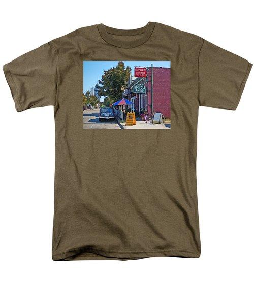 Ok Bicycle Yellow Sign Men's T-Shirt  (Regular Fit) by Michael Thomas