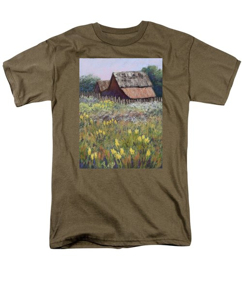 Men's T-Shirt  (Regular Fit) featuring the painting Old Barn In Spring by Nancy Jolley