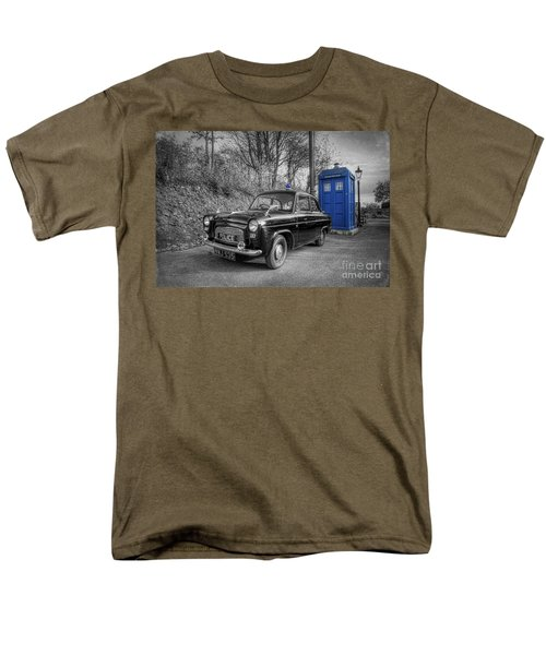 Old British Police Car And Tardis Men's T-Shirt  (Regular Fit) by Yhun Suarez