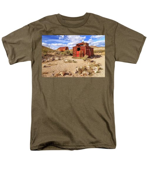 Men's T-Shirt  (Regular Fit) featuring the photograph Old Caboose At Rhyolite by James Eddy