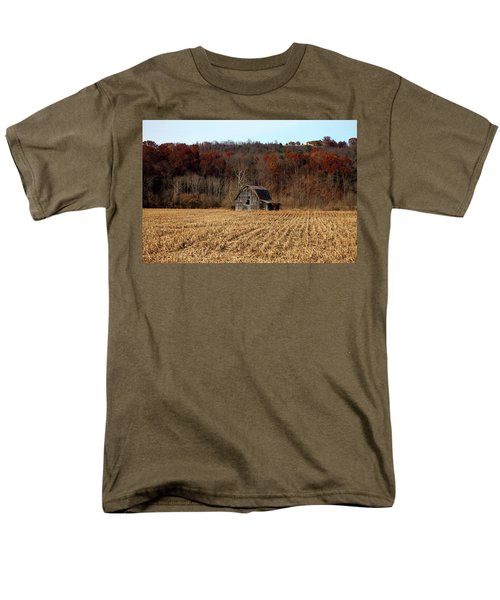 Old Country Barn In Autumn #1 Men's T-Shirt  (Regular Fit) by Jeff Severson
