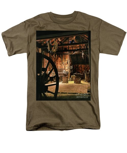 Men's T-Shirt  (Regular Fit) featuring the photograph Old Forge by Tom Cameron