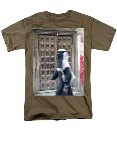 Old Lamu Town Muslim Woman Walking Men's T-Shirt  (Regular Fit) by Exploramum Exploramum