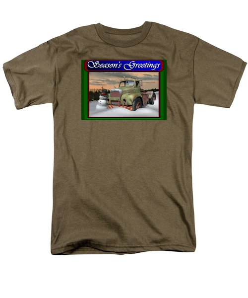 Old Mack Christmas Card Men's T-Shirt  (Regular Fit) by Stuart Swartz