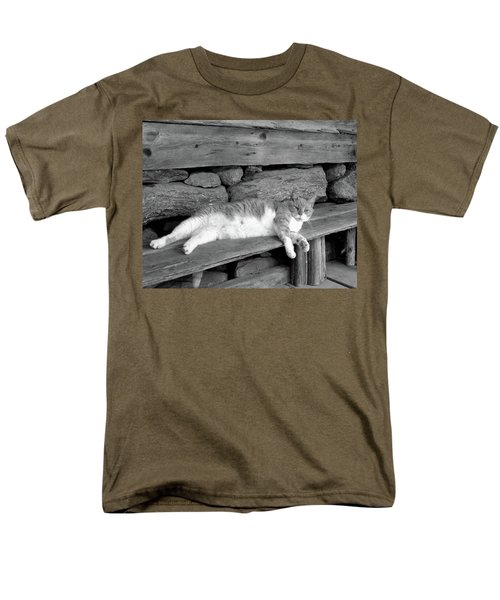 Men's T-Shirt  (Regular Fit) featuring the photograph Old Mill Cat by Sandi OReilly