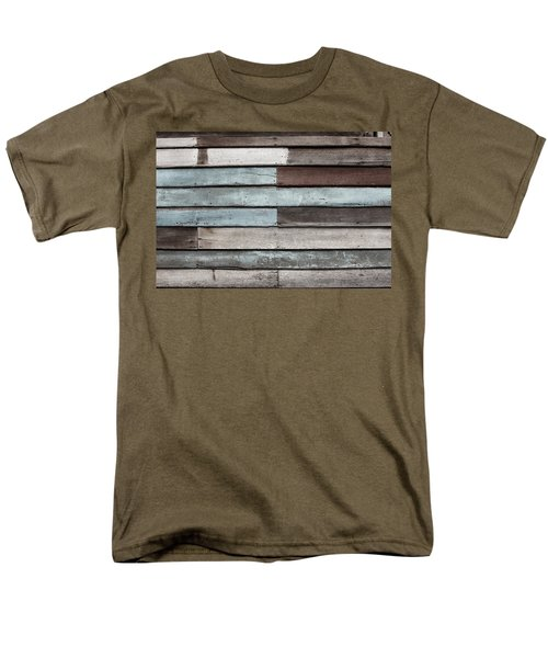 Old Pale Wood Wall Men's T-Shirt  (Regular Fit) by Jingjits Photography