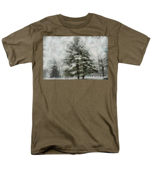 Men's T-Shirt  (Regular Fit) featuring the mixed media Old Piney by Trish Tritz