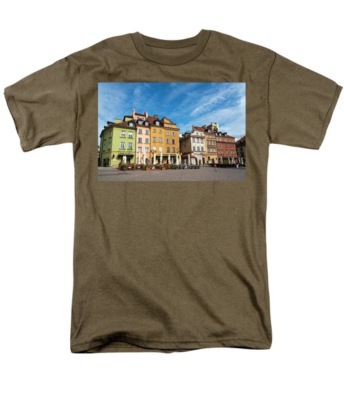 Men's T-Shirt  (Regular Fit) featuring the photograph Old Town Warsaw by Chevy Fleet
