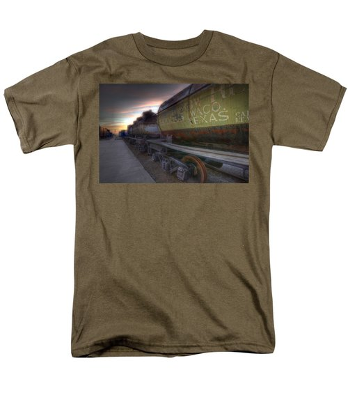 Old Train - Galveston, Tx 2 Men's T-Shirt  (Regular Fit) by Kathy Adams Clark