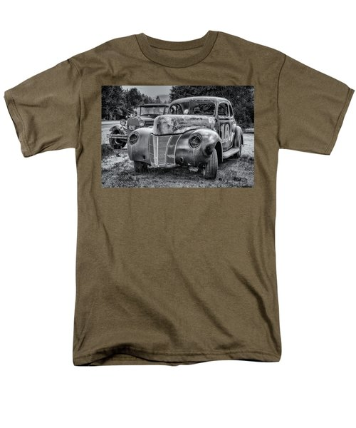 Old Warrior - 1940 Ford Race Car Men's T-Shirt  (Regular Fit) by Ken Morris