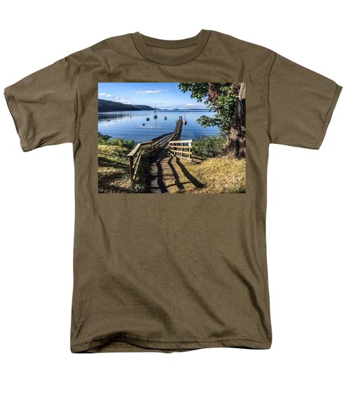 Men's T-Shirt  (Regular Fit) featuring the photograph Olga Pier by William Wyckoff