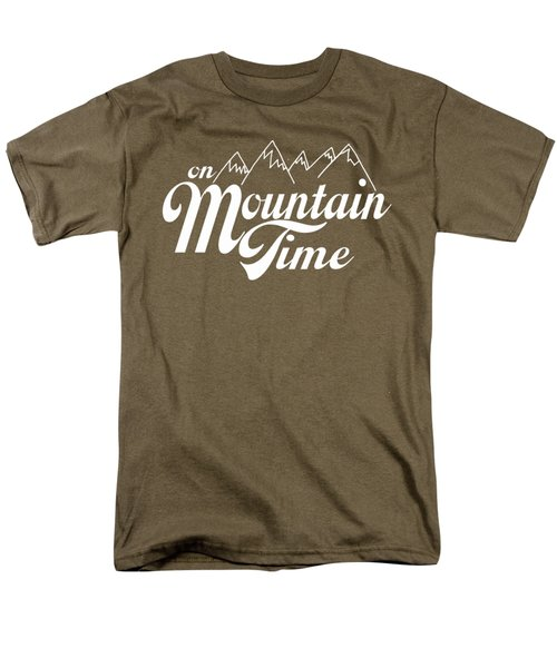 On Mountain Time Men's T-Shirt  (Regular Fit) by Heather Applegate