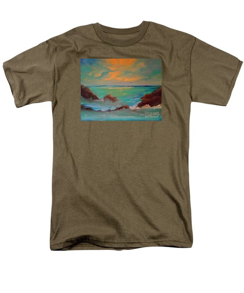 On The Rocks Men's T-Shirt  (Regular Fit) by Holly Martinson