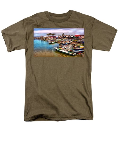 On The Shore Men's T-Shirt  (Regular Fit) by Charuhas Images