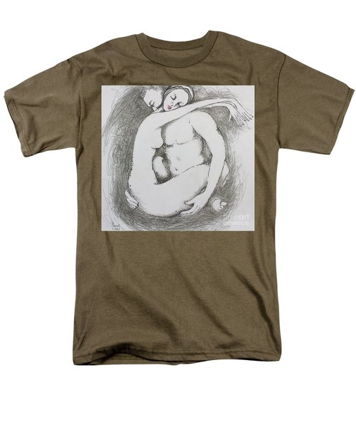 Men's T-Shirt  (Regular Fit) featuring the drawing Once Lovers by Marat Essex