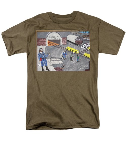 Men's T-Shirt  (Regular Fit) featuring the painting Onieda Coal Mine by Jeffrey Koss