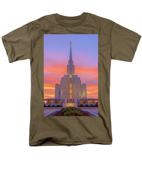 Men's T-Shirt  (Regular Fit) featuring the photograph Oquirrh Mountain Temple IIi by Chad Dutson