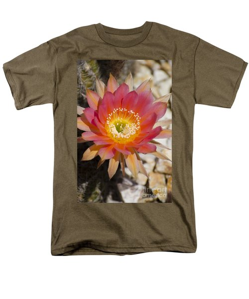 Orange Cactus Flower Men's T-Shirt  (Regular Fit) by Jim and Emily Bush