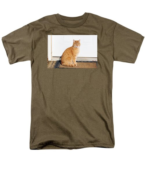 Men's T-Shirt  (Regular Fit) featuring the digital art Orange Tabby Cat by Jana Russon