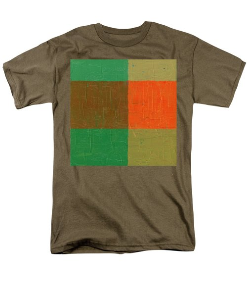 Orange With Brown And Teal Men's T-Shirt  (Regular Fit) by Michelle Calkins