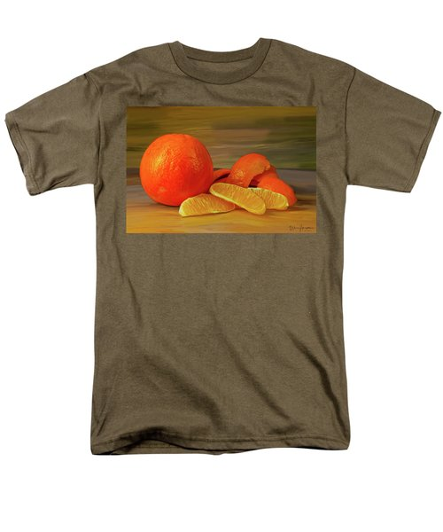 Oranges 01 Men's T-Shirt  (Regular Fit) by Wally Hampton