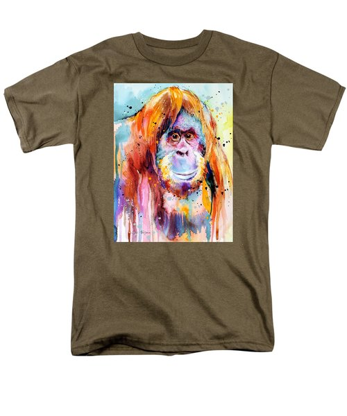 Orangutan  Men's T-Shirt  (Regular Fit) by Slavi Aladjova