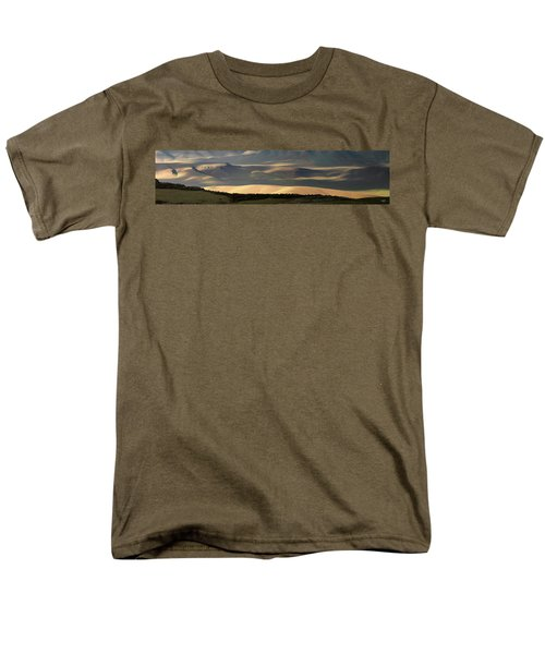 Men's T-Shirt  (Regular Fit) featuring the photograph Oregon Canyon Mountain Layers And Textures by Leland D Howard