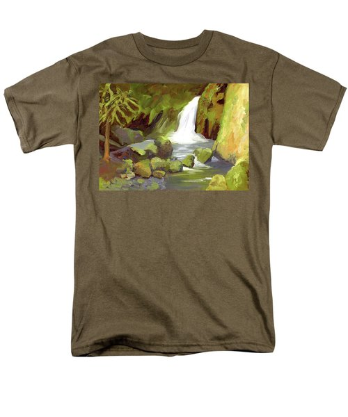 Oregon Waterfall Men's T-Shirt  (Regular Fit) by Alice Leggett