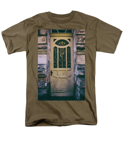 Ornamented Doors In Light Brown Color Men's T-Shirt  (Regular Fit) by Jaroslaw Blaminsky