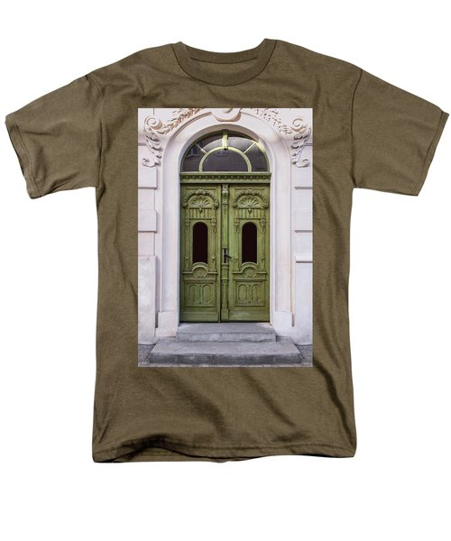Ornamented Gates In Olive Colors Men's T-Shirt  (Regular Fit) by Jaroslaw Blaminsky