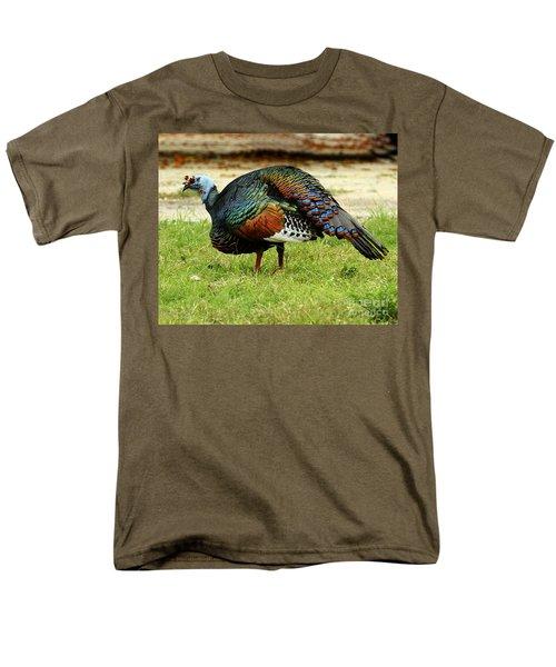 Oscillated Turkey Men's T-Shirt  (Regular Fit) by Kathy McClure